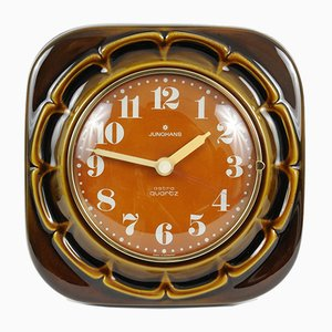 Reloj alemán vintage de cerámica de Junghans, años 70