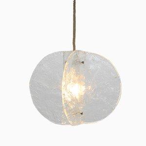 Lámpara colgante vintage de cristal de Murano de Carlo Nason para Mazzega, años 60