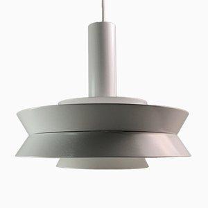 Lampe à Suspension Trava Blanche par Carl Thore pour Granhaga en Metallindustri, Suède, 1960s