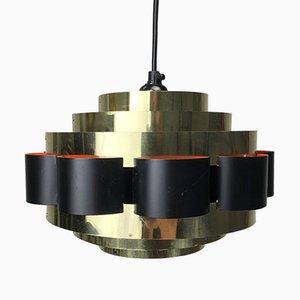 Lampe à Suspension Vintage en Laiton, Danemark, 1960s