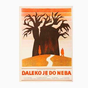 Poster vintage del film Far Away to Heaven di Ľubica Prudilová, Repubblica Ceca, 1972
