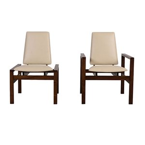 Mid-Century Modern Lounge Chairs from Brown Saltman, Set of 2