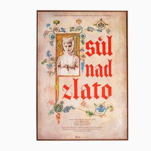 Poster vintage del film The Salt Prince di Michal Hendrych, Repubblica Ceca, 1983