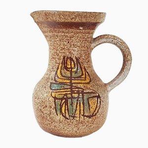 Pichet Mid-Century en Céramique pour Accolay, France, 1960s
