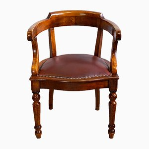 Victorian Cherry Office Chair, 1880s