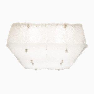 Vintage Hängelampe aus Eisglas von Kalmar