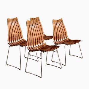 Esszimmerstühle aus Palisander von Hans Brattrud für Hove Mobler, 1965, 4er Set