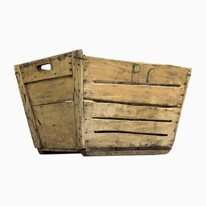 Vintage Wooden Grape Crate, 1930s