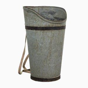 Cesta de vendimia vintage de zinc