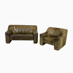 Juego de sofá y sillón DS44 vintage de de Sede
