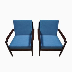 Danish Mid-Century Modern Armchairs, 1960s, Set of 2