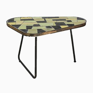 Garden Table with Ceramic Tiles and Tripod Frame, 1960s