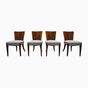 Art Deco H-214 Dining Chairs by Jindřich Halabala for Thonet, 1930s, Set of 4