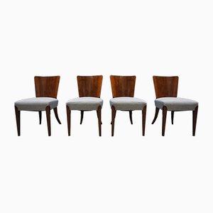 Chaises de Salon H-214 Art Déco par Jindrich Halabala pour Thonet, 1930s, Set de 4