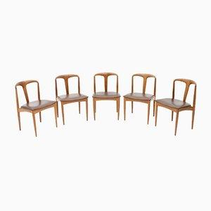 Modell Juliane Esszimmerstühle aus Teak von Johannes Andersen für Uldum Møbelfabrik, 1960er, 5er Set