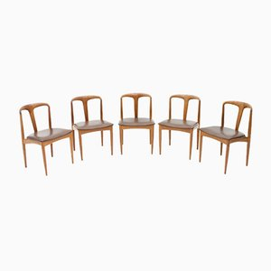 Teak Model Juliane Dining Chairs by Johannes Andersen for Uldum Møbelfabrik, 1960s, Set of 5