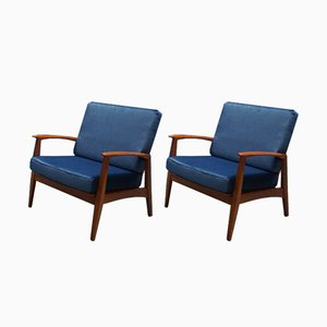 Mid-Century German Easy Chairs from Casala, 1950s, Set of 2