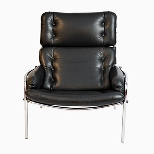 Vintage Osaka Leather Lounge Chair by Martin Visser for 't Spectrum