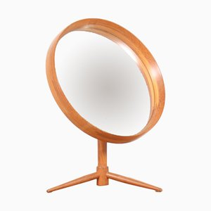 Miroir de Table Scandinave Vintage en Teck