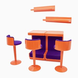 German Fiberglass Bar Set by Wolfgang Feierbach, 1970s