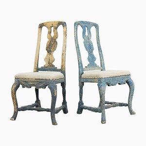 Schwedische Rokoko Stühle, 2er Set, 18. Jh.