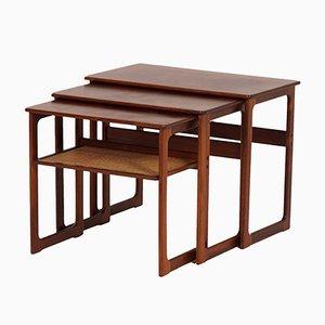 Tavolini ad incastro di Johannes Andersen & Illum Wikkelso per CFC Silkeborg, Danimarca, anni '50