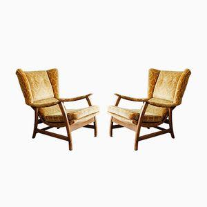 Dänische Mid-Century Sessel, 1950er, 2er Set