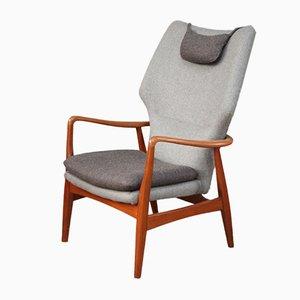 Mid-Century Armlehnstuhl mit hoher Rückenlehne von Madsen & Schübel für Bovenkamp