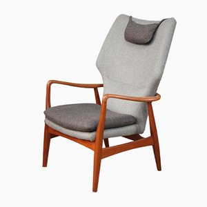 Mid-Century High-Back Armchair by Madsen & Schübel for Bovenkamp
