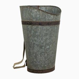 Cesto da vendemmia vintage in zinco, anni '20