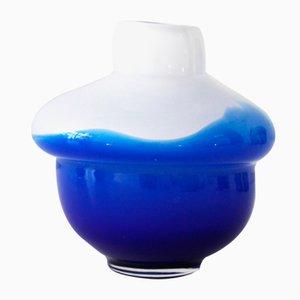 Volcano Vase in Königsblau & Weiß von Alissa Volchkova