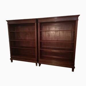 Vintage Oak and Pine Bookcases, 1920s, Set of 2