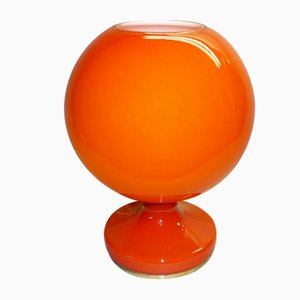 Vintage Red Glass Table Lamp by Stepan Tabera for OPP Jihlava