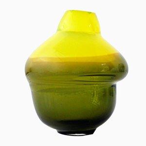 Volcano Vase in Gelb & Olivgrün von Alissa Volchkova
