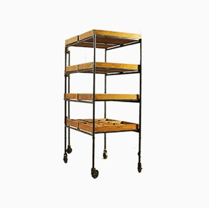 Vintage Industrial Shelf Trolley, 1930s