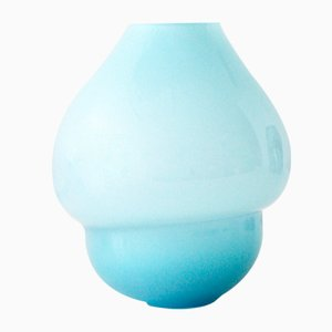 Light Blue Volcano Vase by Alissa Volchkova