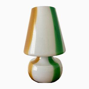 Lámpara vintage de vidrio, años 80