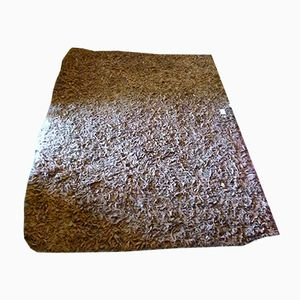 Vintage Industrial Leather and Wool Carpet