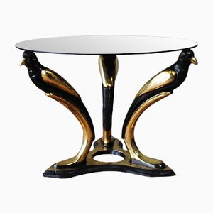 Italian Gold Bird Coffee Table, 1970s