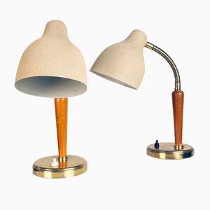 Lámparas de mesa suecas Mid-Century de EOS. Juego de 2