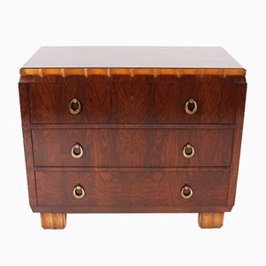 Belgian Hardwood Chest of Drawers, 1920s