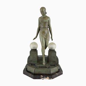 Art Deco Nausicaa Lampe von Pierre Le Faguays für Max Le Verrier France, 1930er