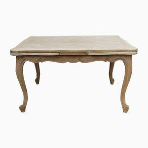 French Oak Extending Drop Leaf Dining Table, 1930s
