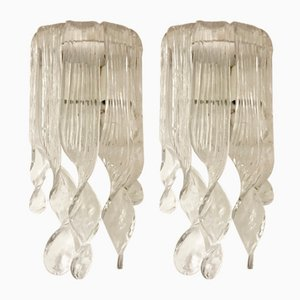 Mid-Century Murano Glass Sconces by Gino Vistosi, Set of 2
