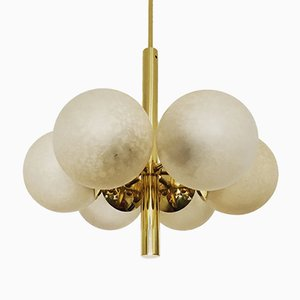 Golden Sputnik Chandelier from Kaiser Leuchten, 1960s