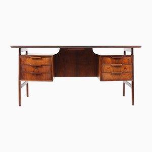 Vintage Schreibtisch aus Palisander von Omann Jun