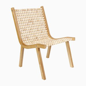 o432 Sessel mit Ahornkugeln von Jean-Frédéric Fesseler