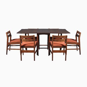 Mid-Century Extendable Dining Table and 6 Chairs, 1960s