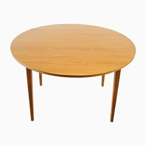 Round Teak Extendable Table, 1980s