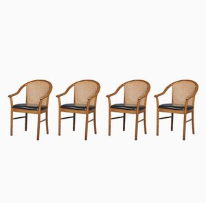 Italian Armchairs from Consorzio Sedie Friuli, 1950s, Set of 4